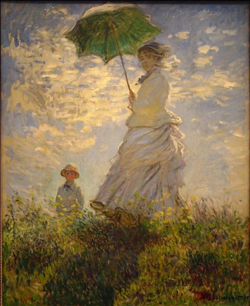 """Claude Monet a peint """"La Promenade""""."""