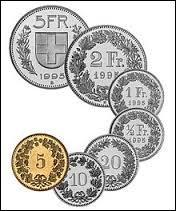 Monnaie du pays où l'on parle principalement le français, l'allemand, l'italien et le romanche, c'est celle de la / de l' :