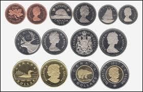 Monnaie dont le drapeau de ce pays possède une feuille rouge, c'est celle du / de l' :