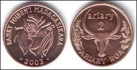Monnaie d'où nous viennent quatre personnages de dessin animé : un lion, une girafe, un hippopotame et un zèbre..., c'est celle de :