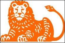 Quelle banque est symbolisée par un lion orange ?