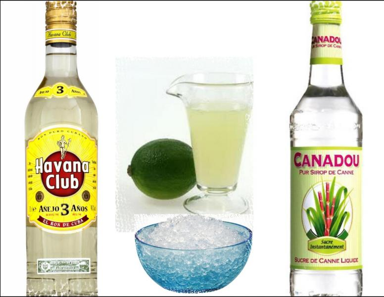 Les ingrédients présentés servent à préparer le cocktail appelé :