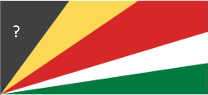 De quelle couleur doit être le triangle marqué d'un point d'interrogation pour obtenir la bannière des Seychelles ?