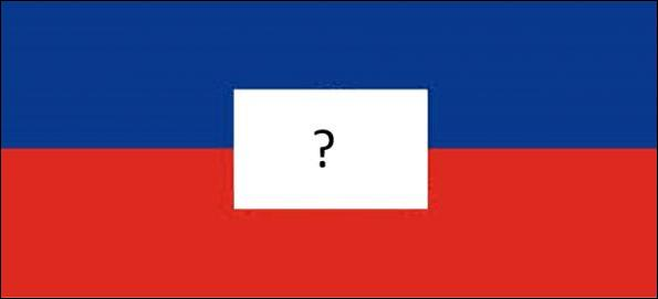 Lesquelles de ces armoiries doivent figurer sur le drapeau d'Haïti ?