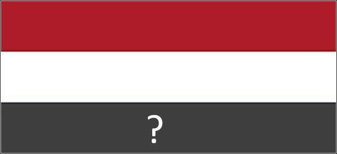 Quelle couleur doit être présente sur la bande marquée d'un point d'interrogation pour obtenir le drapeau des Pays-Bas ?