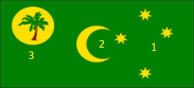 Il manque une étoile sur le drapeau des Iles des Cocos. Où se trouve-t-elle ?