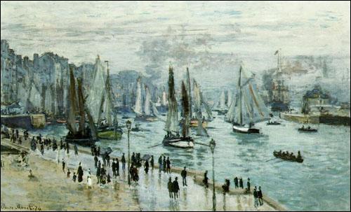 """Qui a peint ce tableau appelé """"Bateaux quittant le port du Havre"""" au XIXe siècle ?"""