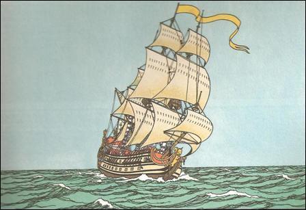 """Complétez le titre de cette bande dessinée de Tintin pour trouver le nom du bateau qui se trouve dans cette histoire : """"Le Secret de..."""