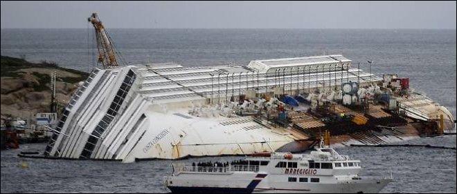 """En quelle année le paquebot de croisière appelé """"Costa Concordia"""" a-t-il fait naufrage ?"""