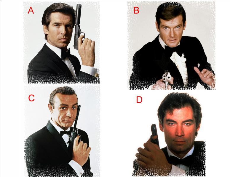 L'acteur qui incarnait l'agent secret « James Bond » dans « Les diamants sont éternels » est représenté en :