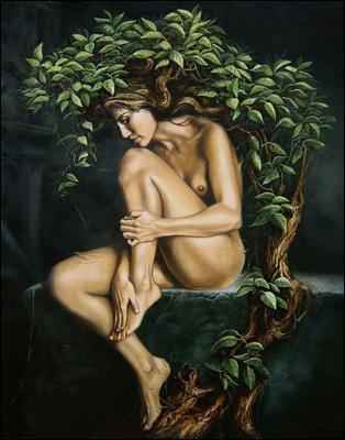 Nymphes des frênes, nées de la terre et fécondées par le sang d'Ouranos. Qui sont-elles ?