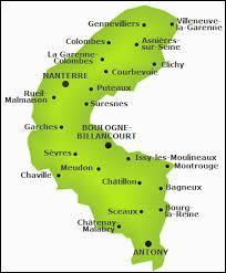 """Quel est le numéro correspondant au département """"Hauts-de-Seine"""" ?"""