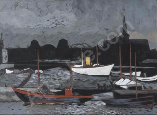 Quizz les bateaux de p che en peinture quiz peintres for Auguste chabaud cote