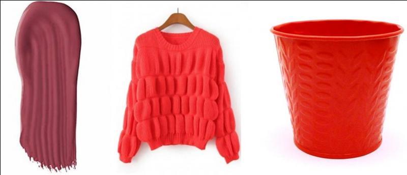 Ce vêtement a une couleur peu commune. On l'appelle le « nacarat ».Quelle est la couleur de ce vêtement ?