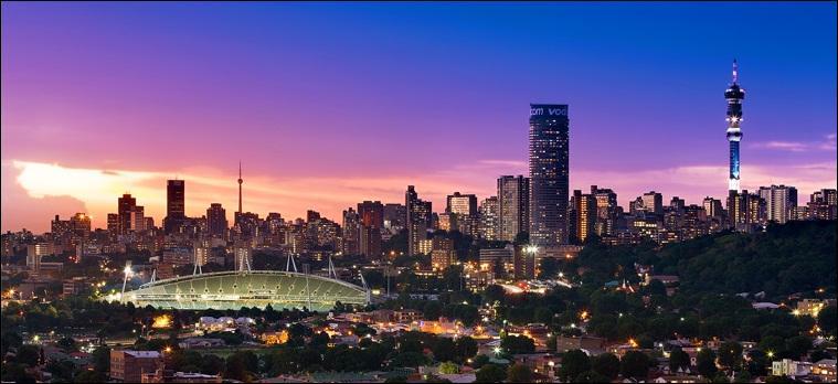 Johannesburg est la capitale de la République Sud-Africaine.