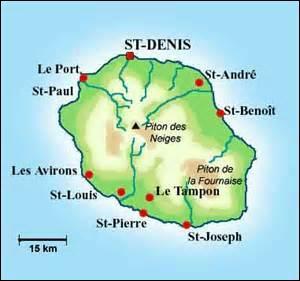 """Dans quelle île de l'océan Indien fut écrit le poème """"A une dame créole"""" de Charles Baudelaire en 1841 ?"""