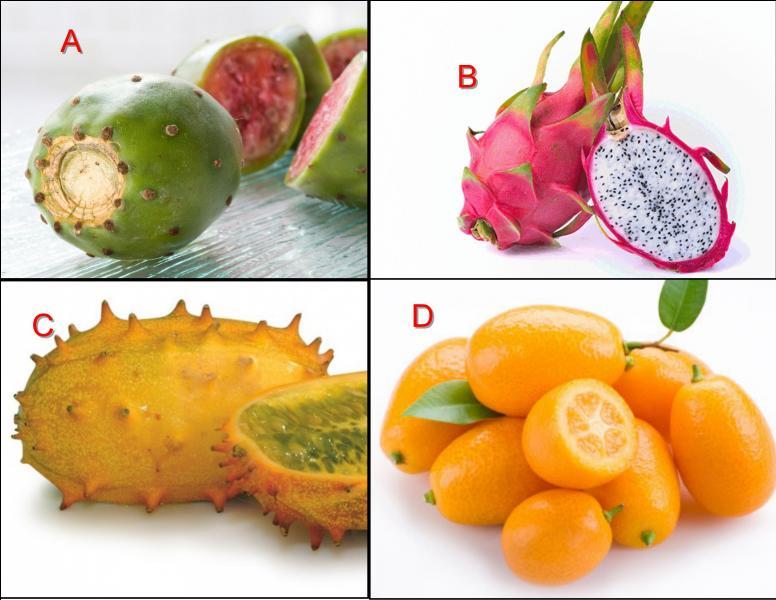 Fruit exotique des DOM-TOM, le kivano est représenté en :