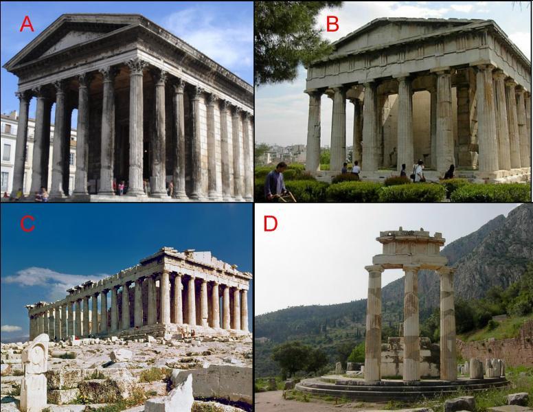Le Parthénon est représenté en :