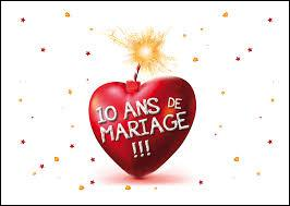 Quizz autour du 39 10 39 quiz culture generale - 8 ans de mariage noce de ...