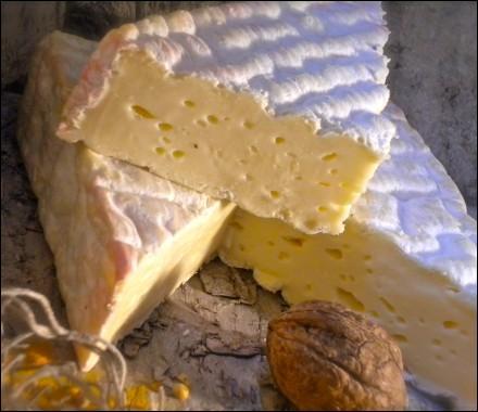 Fromage français de lait de vache produit et affiné sur le territoire de l'ancienne Normandie historique - protégé par une appellation d'origine - la recette aurait été conçue par des moines cisterciens au 12e siècle.