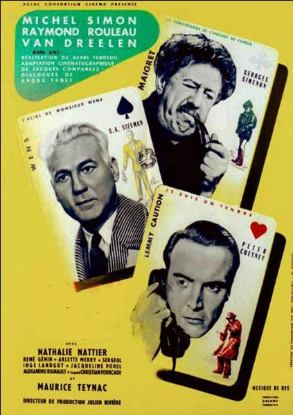 Ce film à sketches met en scène trois personnages de romans policiers, dont une adaptation d'une nouvelle de Georges Simenon où l'on retrouve Michel Simon dans le rôle du commissaire Maigret...