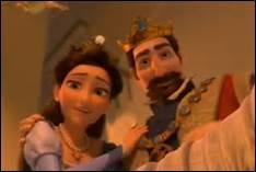 Au début du film, est-ce le père ou la mère de Raiponce qui tombe malade ?