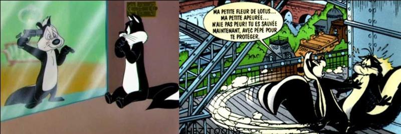 Créé par Chuck Jones en 1945, ce personnage fait fuir tout le monde et surtout Pénélope, l'héroïne malheureuse de ce dessin animé ! Qui est ce puant et collant héros (antihéros) ?
