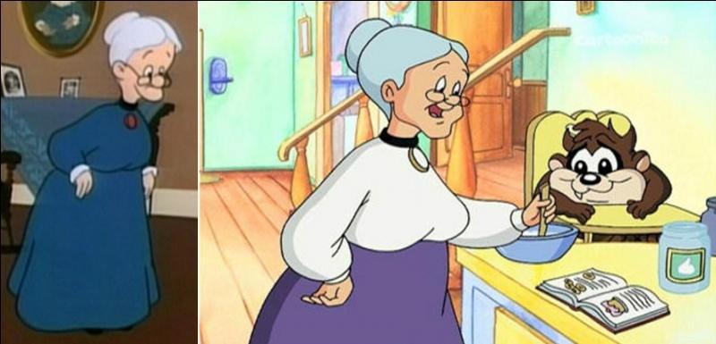 Ce personnage mène l'enquête, c'est la« grand-mère » pour des bébés, elle voyage beaucoup, accompagnée de ses deux animaux domestiques, une bestiole à plumes et un greffier qui ne veut pas se contenter de sa gamelle ! Qui est cette charmante personne ?