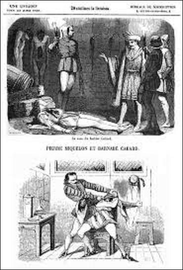 """De 1410 à 1414 à Paris, eut lieu une série de 143 meurtres perpétrés sans doute dans la rue du Mont-Saint-Hilaire, actuelle rue de Lanneau, dans le 5e arrondissement. Nommée """"L'Affaire Cabard et Miquelon"""", du nom des deux protagonistes, selon une légende persistante. Qu'exerçait comme métier le premier de ces lascars, boulot qui lui permettait de tuer ses victimes proprement ?"""