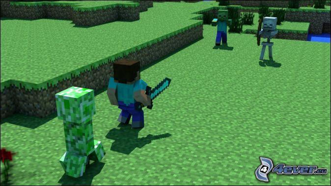 Le Creeper (non chargé) fait ... blocs de destruction