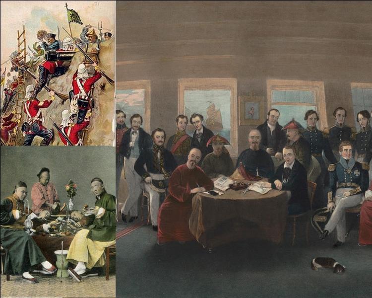 Quelle nom a-t-on donné à la guerre opposant la Chine de la dynastie Qing au Royaume-Uni entre 1839 et 1842 ?