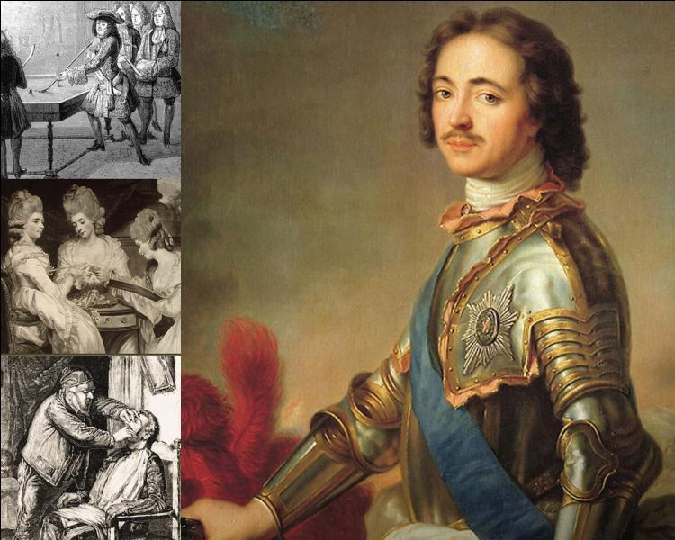 Quelle taxe fut crée par le tsar Pierre Ier en 1704 ?