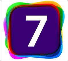 """Comment écrit-on en lettres le chiffre """"7"""" en anglais ?"""