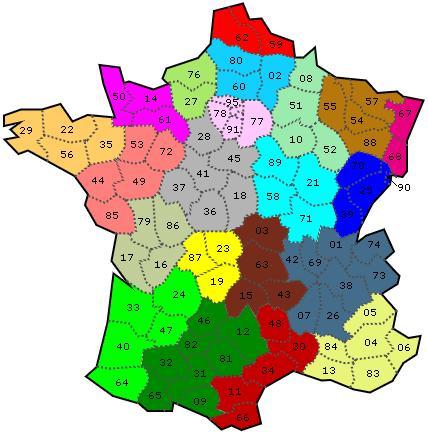 Retrouvez ces départements français