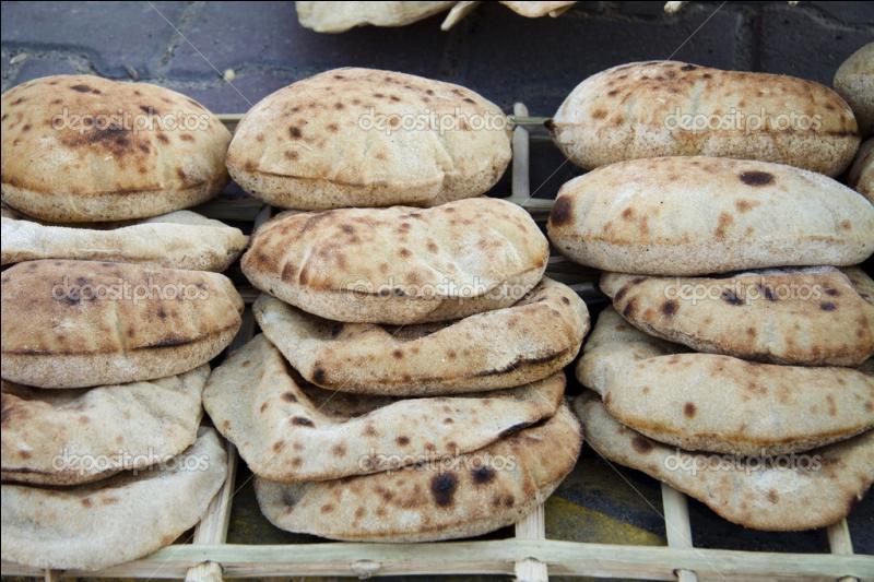Comment s'appelle ce pain égyptien ?