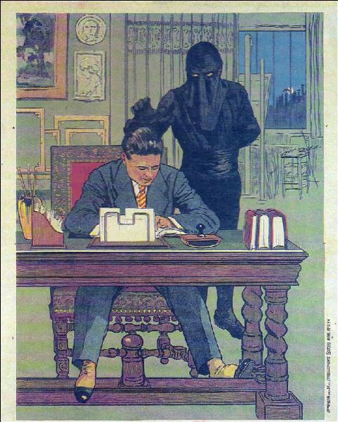 """Qui est cet individu vêtu de noir, antagoniste principal du film """"Le Mort qui tue"""", réalisé par Louis Feuillade en 1913 ?"""