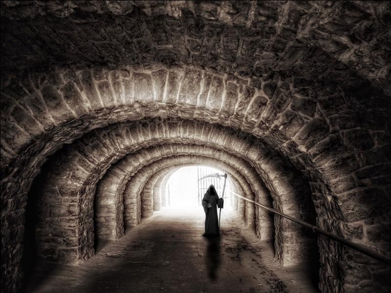 De quel outil la Mort, telle qu'on la représente couramment, se sert-elle pour récolter les âmes des défunts ?