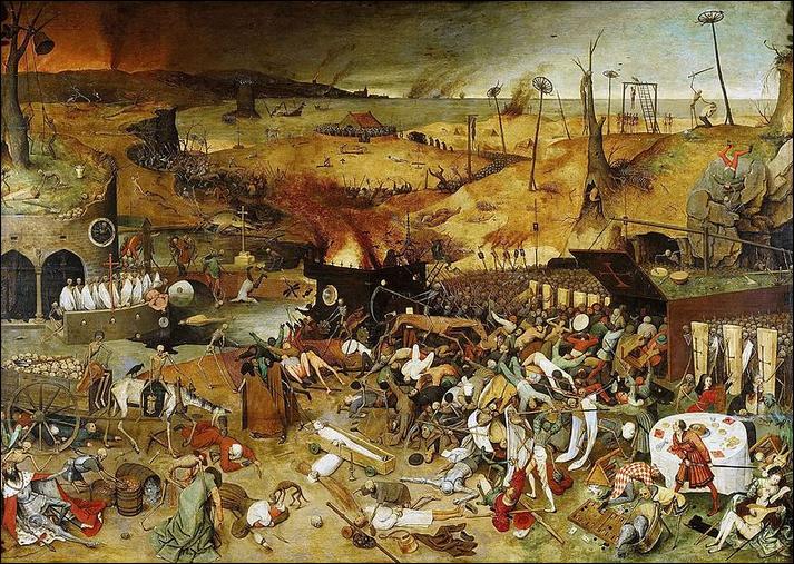 """Qui a peint """"Le Triomphe de la Mort"""" au XVIe siècle, ce gigantesque tableau dans lequel une armée de squelettes, guidée par la Mort, massacre un village ?"""