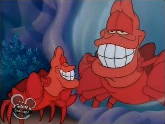 """Comment s'appelle le crabe dans """"La Petite Sirène"""" ?"""