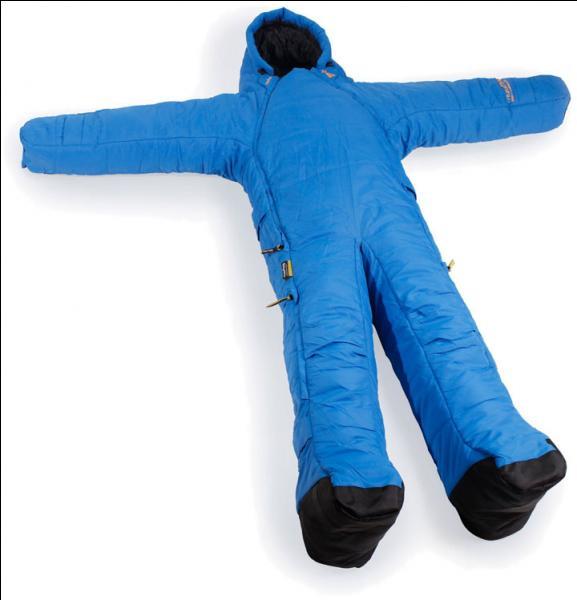 Vous pouvez voir sur l'image un sac de couchage articulé, idéal pour les...