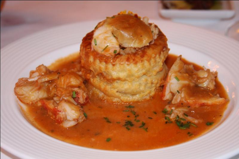 Quel est le nom de cette sauce béchamel au fumet de poisson, truffes et au coulis de homard, agrémentée d'une pointe de Cayenne ?