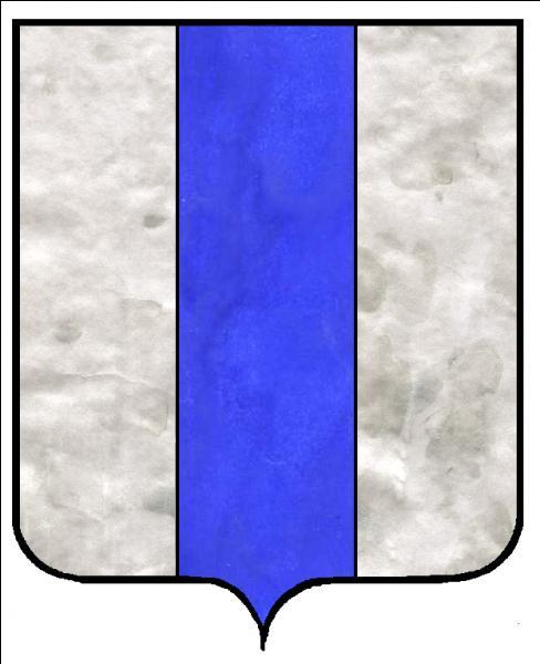 En héraldique, bande verticale placée au milieu de l'écu :