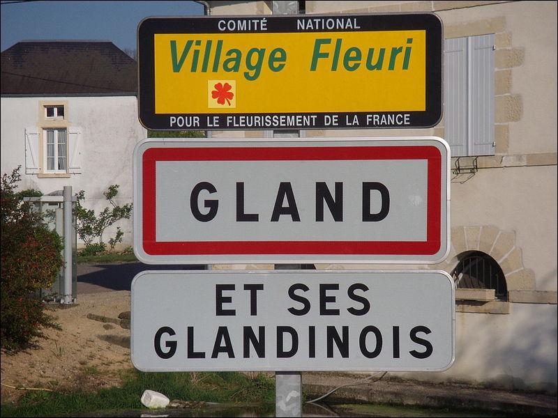 Aidez-vous de l'image, et ça ne sera pas compliqué ! Comment appelle-t-on les habitants de Gland, dans l'Yonne ?