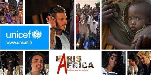 Réunis pour l'Unicef dans le groupe Collectif Paris Africa, 80 artistes aident à la lutte contre la crise alimentaire qui frappe la Corne d'Afrique, en chantant...