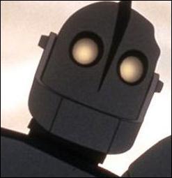 """Hé, c'est moi ! Cette image est extraite du film """"Le Géant de fer"""". Ce film parle de la rencontre entre un robot qui a perdu la mémoire et un enfant. Le mot """"robot"""" vient du slave """"robota"""" qui signifie..."""