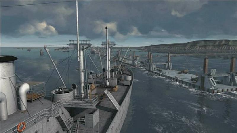Arromanches est connu pour son port artificiel. Un second pont a d'abord servi mais a ensuite sombré suite à de très forts vents et de très fortes vagues. Où se situait-il ?