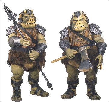 Quel est le nom de la race des gardes du palais de Jabba ?
