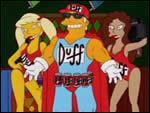 Un jour Duff-man débarque chez Moe et pose une question pour avoir de la Duff gratuite, Homer connaissait la réponse mais il ne l'a pas dit, pourquoi ?