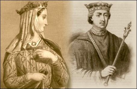 Aliénor d'Aquitaine fut reine de France puis d'Angleterre.