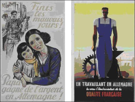 A quoi fait référence cette affiche de propagande ?